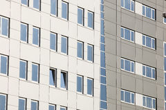 Modern building facade with the blue windows Royalty Free Stock Photos