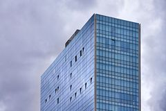 Modern building with glass finish stock photography