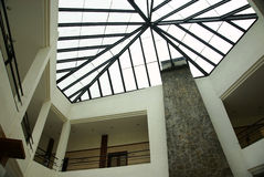 Modern building with glass roof Royalty Free Stock Photography