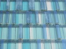 Modern building. Glass wall in a modern city Stock Image