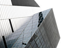 Modern building. Glass windows in building, image of architecture Stock Photo