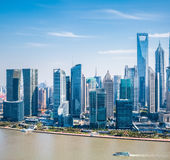 Modern building group in shanghai pudong Stock Images