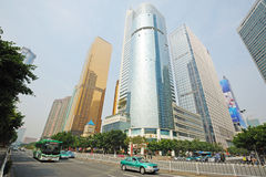 Modern building in guangzhou. Guangzhou international trade centre Royalty Free Stock Images