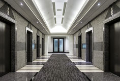 Modern building HallWay Royalty Free Stock Photos