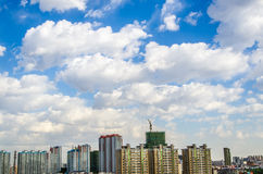 Modern building in harbin city Royalty Free Stock Photography