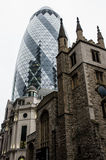 Modern building in the hearth of London City Stock Photo