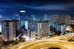 Modern Building in Hong Kong. In night time Royalty Free Stock Photos