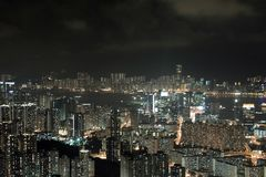 Modern Building in Hong Kong. In night time Stock Images