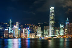 The modern building of the HongKong financial centre. In the China Royalty Free Stock Photography