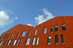 Modern Building Incorporating Red Slabs Stock Image