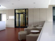 Modern building indoors Stock Images