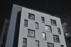 Modern building. Infrared foto Royalty Free Stock Photo