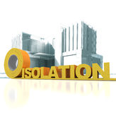 Modern building insulation Stock Images