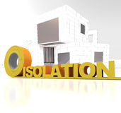 Modern building insulation Stock Image