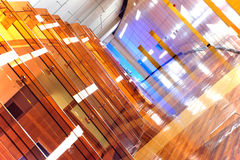 Modern building interior. Modern office building interior, mostly wood design royalty free stock photo