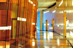 Modern building interior. Modern office building interior, mostly wood design royalty free stock images