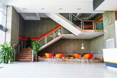 modern commercial office building interior stock photography
