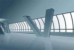 Modern building interior vector. Modern building interior on grey color, vector vector illustration