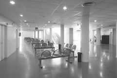Modern building interior. Waiting area with chairs Stock Image