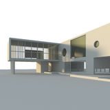 Modern building isolated. High quality 3d render Stock Photography