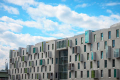 Modern building. A modern building ith coloured windows Stock Photography