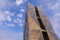Modern building in Kaohsiung. A beautiful building by the blue sky in Kaohsiung, Taiwan Royalty Free Stock Photo