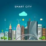 Modern building and landmark, smart city communications Stock Photography