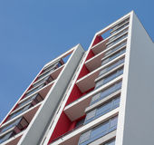 Modern building with large windows and blue sky Stock Photography