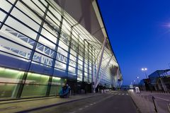 Modern building of Lech Valesa airport in Gdansk Stock Photos