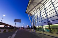 Modern building of Lech Valesa airport in Gdansk Royalty Free Stock Photography