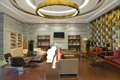 Modern building lobby lounge royalty free stock images