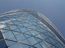 Modern building London. Modern famous gherkin building in the city of London royalty free stock photo