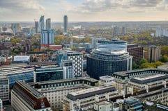 Modern buildings in London, UK stock image