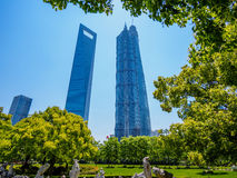 The modern building of the lujiazui financial centre in shanghai Royalty Free Stock Photos