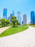 The modern building of the lujiazui financial centre in shanghai Royalty Free Stock Photo