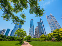 The modern building of the lujiazui financial centre in shanghai Royalty Free Stock Photography