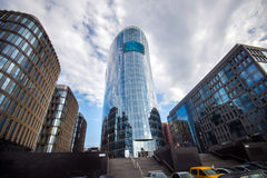 Modern building made of glass. Royalty Free Stock Photos