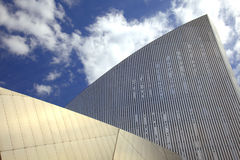 Modern building in Manchester. Detail of the Imperial War Museum at Salford Quays, Manchester, England Royalty Free Stock Photo
