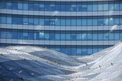 Modern building in Marszalkowska. Warsaw. Poland Stock Photos