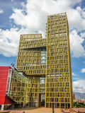 Modern Building in Medellin Low Angle View Stock Photo