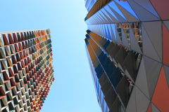 Modern contemporary architecture building Royalty Free Stock Image