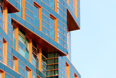 Modern building mirror facade in blue tone Royalty Free Stock Image