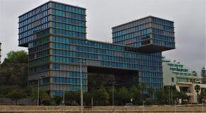 A modern building. In cascais portugal royalty free stock photos