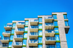 Modern building in modern district of Oslo, Norway stock photo