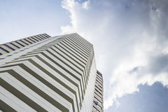 Modern building, Modern office building with blue sky. Royalty Free Stock Photography