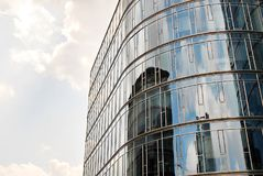 Modern building.Modern office building with facade of glass Stock Photography