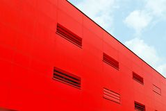 Modern building.Modern office building with facade of glass Royalty Free Stock Photography