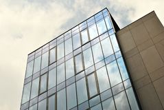 Modern building.Modern office building with facade of glass Royalty Free Stock Images