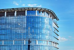 Modern building. Modern office building with facade of glass stock photos