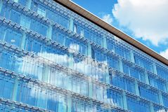 Modern building.Modern office building with facade of glass stock photos